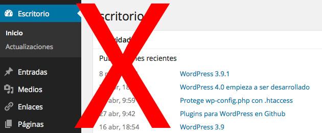 Sin acceso a wp-admin