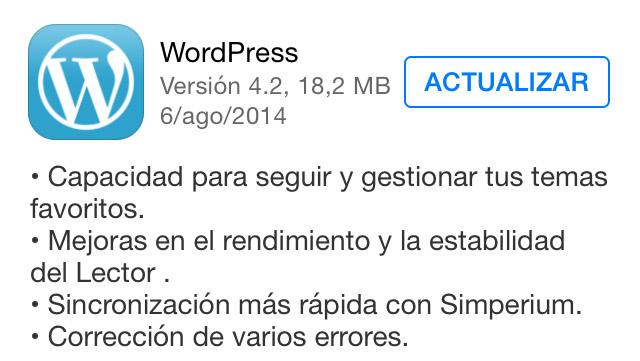 WordPress para iOS