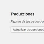 Algunas de tus traducciones no están actualizadas en WordPress 4.0